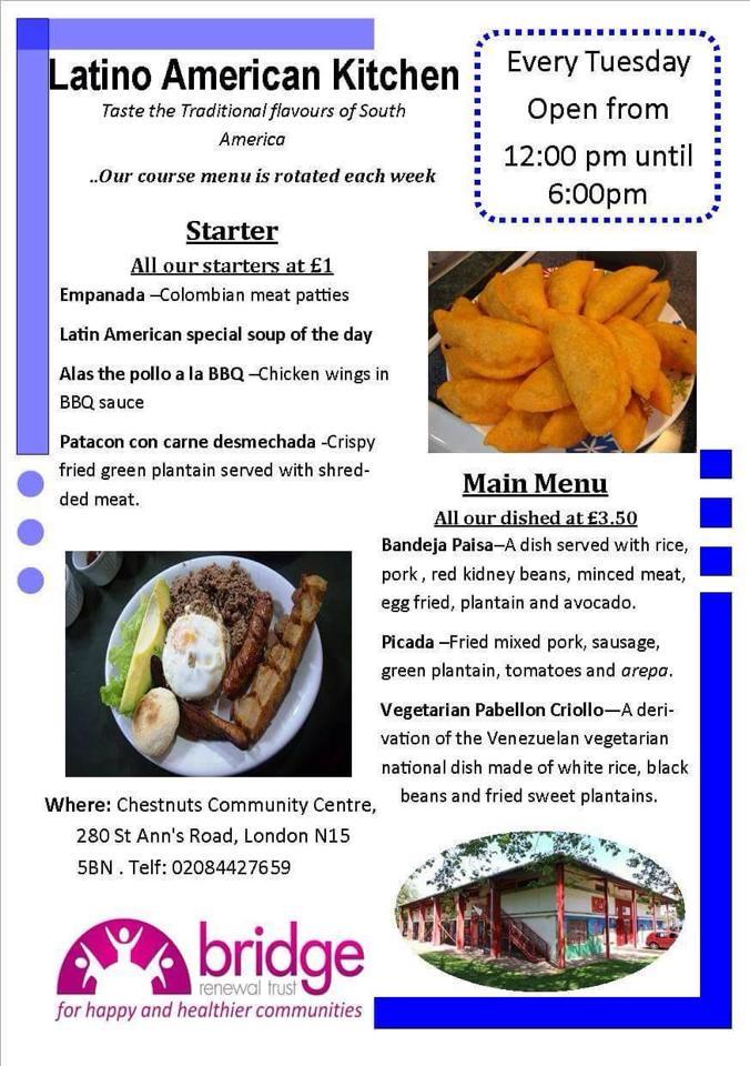 Latin American Kitchen Social Enterprise @ Chestnut Community Centre | London | United Kingdom