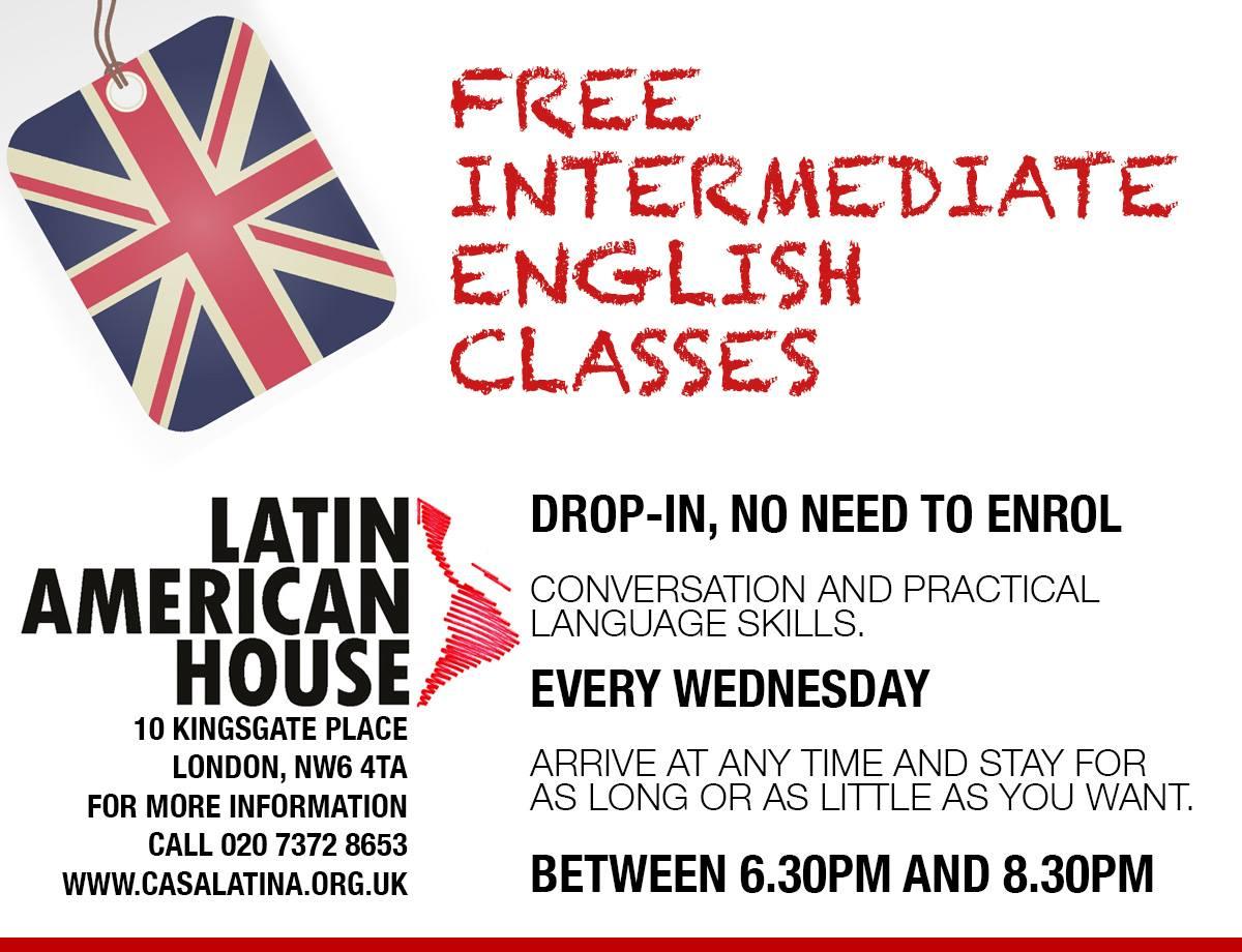 Free Intermediate English Classes @ Latin American House