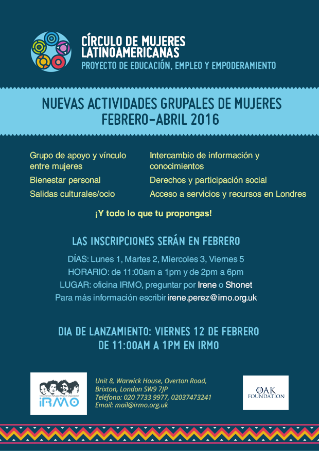 Círculo de mujeres latinoamericanas @ IRMO