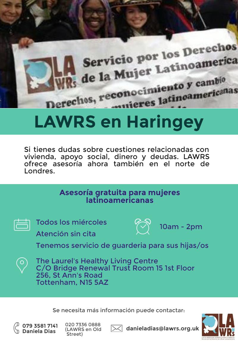 Weekly advice drop in surgery in Haringey - Asesoria semanal en Haringey
